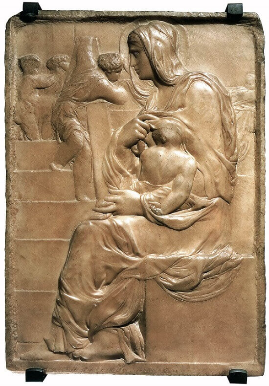 Madonna of the Stairs, by Michelangelo
