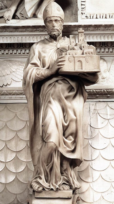 St Petronius, by Michelangelo