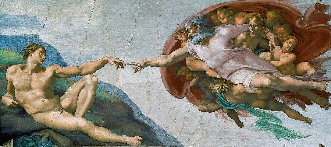 Creation of Adam - most famous painting