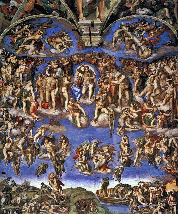 Image result for The Last Judgment (Michelangelo)