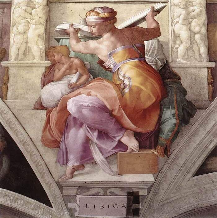Image result for libyan sibyl michelangelo