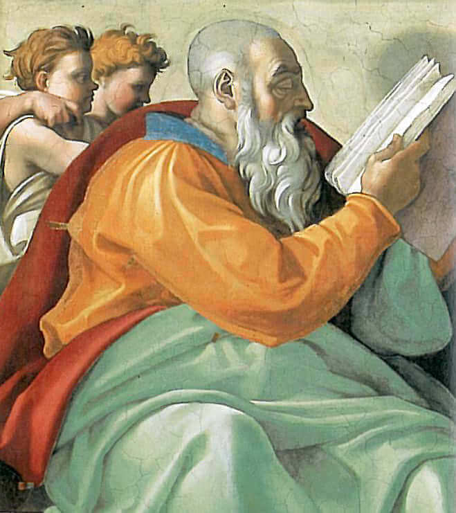 Zacharias, by Michelangelo