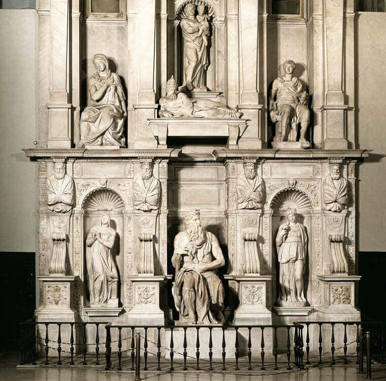 Photo of the Tomb of Pope Julius II by Michelangelo